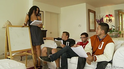 Group of college students with Danica Dillon get girl on undress