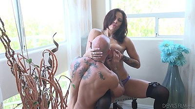 Making out and fingering with big tits girl Lilith Lavey