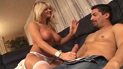 Big tits cougar moms d1 in stockings giving head with titty fuck