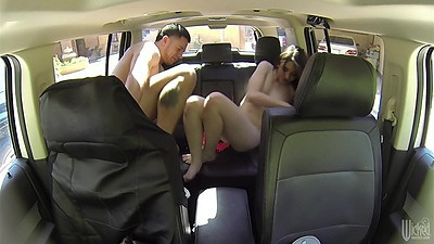 Van backseat joy ride hidden camera filmed Eva Sedonna