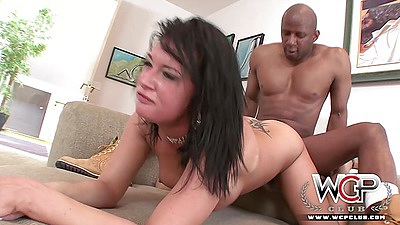 Rough sex brunette Tory Lane does deep anal fuck with black cock