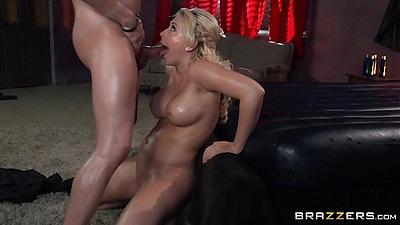 Oil big tits fucking around with dirty massage Kagney Linn Karter