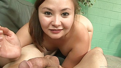 Kita Zen pov blowjob with petite asian girl